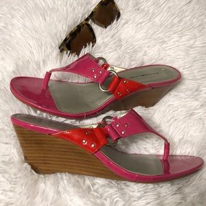 5 for $25 Bandolino wedge pink sandals